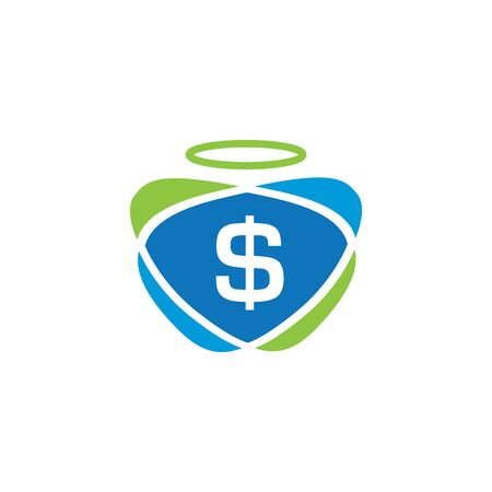 Honest dollar logo design. Fast pay symbol or icon. Unique cash and digital logotype design template.