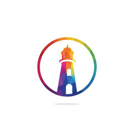 Lighthouse vector logo design. Lighthouse icon logo design vector template illustration.
