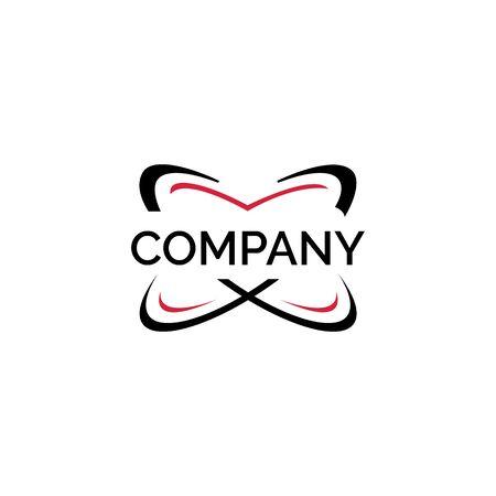Technology logo design template. Networking vector logo design.