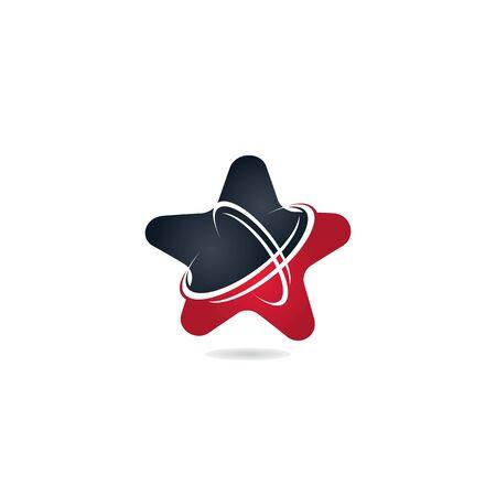 Star networking logo design. Technology logo design template.