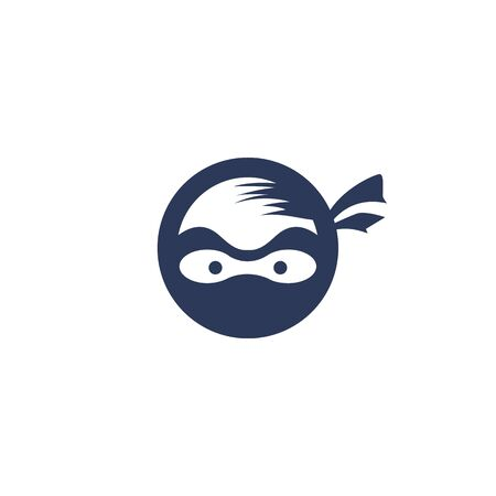 Ninja vector logo design template.