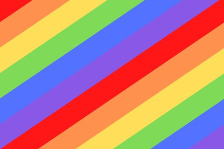 LGBTQ illustration on colorful rainbow flag or pride flag / banner of LGBTQ (Lesbian, gay, bisexual, & Queer) organization. Pride month parades are celebrated in June