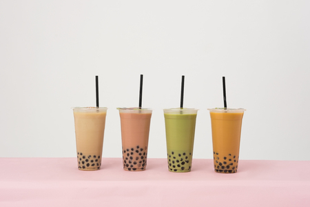 Art of milk tea Stock Photo