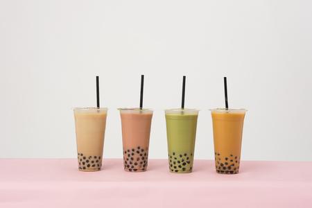 Art of milk tea Reklamní fotografie