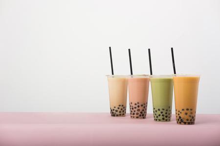 Art of milk tea Stock Photo