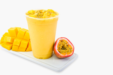 smoothie mango and passionfruit 免版税图像
