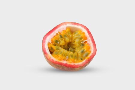 Passion fruit on white backround