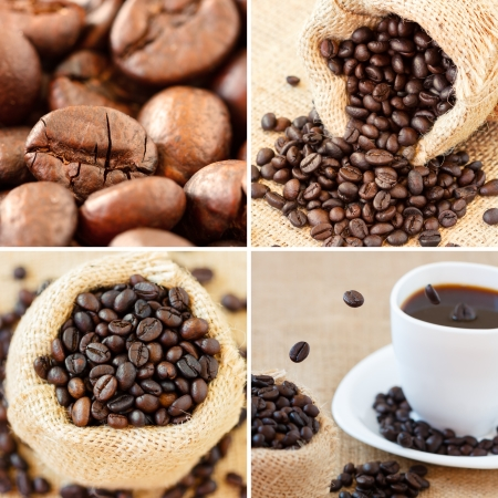 Coffee collage made with four unique images. They can be found separately in my gallery. photo