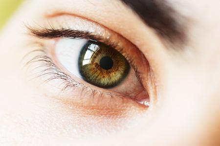 若い男性の目のマクロ写真 写真素材