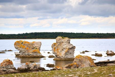 Rauk landscape in Gotland, Sweden photo