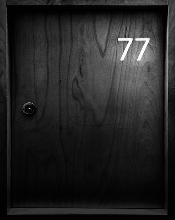 Locker with number seventy seven - 77
