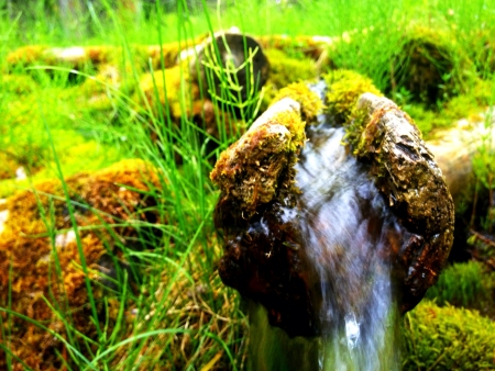Water flows.