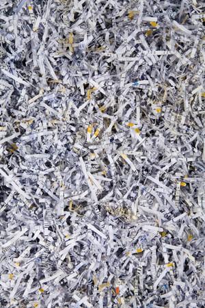 shredded paper back groundimage taken  from above