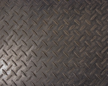 treadplate: checker plate plastic sheet you lay down on soft ground to drive over in cars and lorrys
