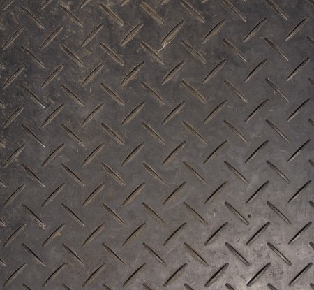 chequerplate: checker plate plastic sheet you lay down on soft ground to drive over in cars and lorrys