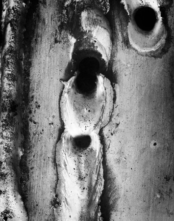 close up detail black and white image of the surface of metal Stock Photo - 7802728