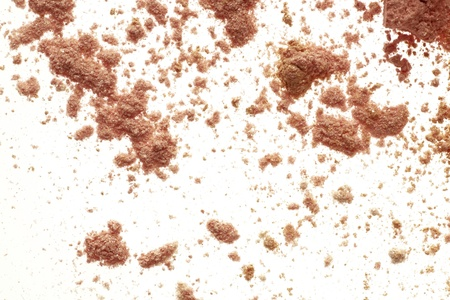 eyemakeup: close up detail shot of a  powder maker up, isolated over white  Stock Photo