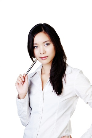 portrait of young business woman standing Stock Photo - 12502215