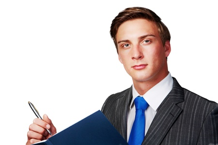 young business man taking note Stock Photo - 12188063