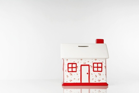 small model house box to save up all your money photo