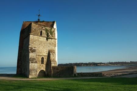 algemene landschap Isle of Wight die in maart op een zonnige dag Stockfoto