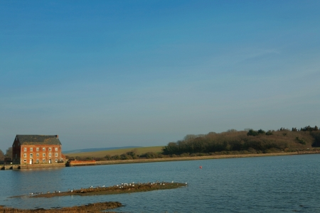 wight: general landscape isle of wight taken in march on a sunny day Stock Photo