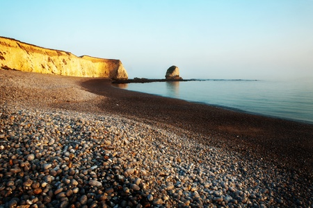 general landscape isle of wight taken in march on a sunny day in Freshwater Bay