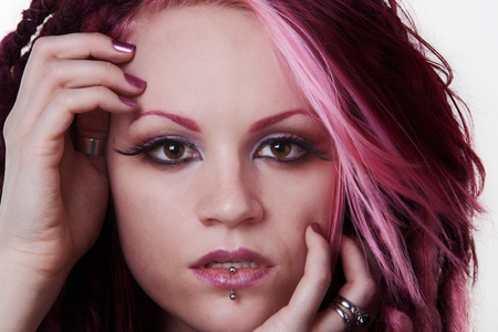 dread: woman with dread lock hair looking at camera