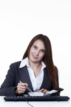 very young looking happy business woman with a big smile Stock Photo - 14431721