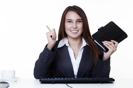 very young looking happy business woman with a big smile Stock Photo - 14431675