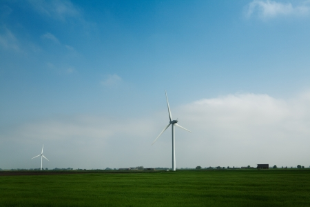 landscape shots of windmill farm near chatteris set in the Cambridgeshire Country Side England photo