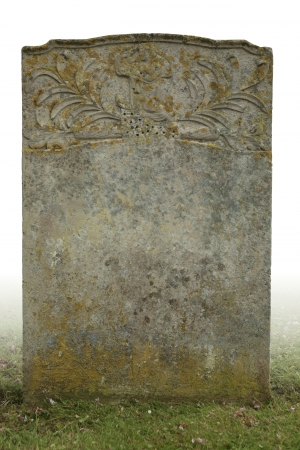 empty tomb: single grave stone cut out  Stock Photo