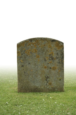 single grave stone cut out  photo