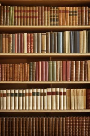 Bibliothèque avec beaucoup de vieux livres dans une bibliothèque Banque d'images - 21975749
