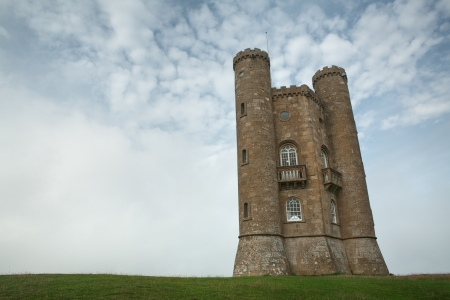 cotswold: View of the Broadway Tower, Cotswold, England Stock Photo