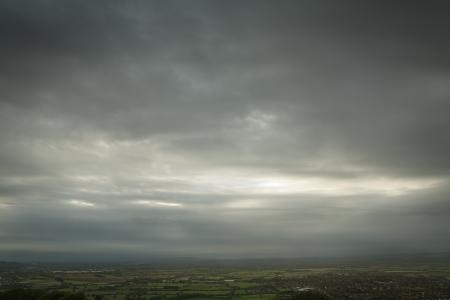 racecourse: Cloudy day over Cheltenham Racecourse, England