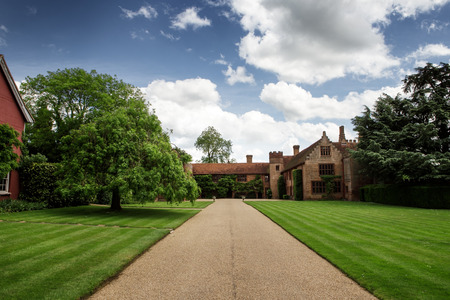 stately: building shot of a manor house in Essex, England Stock Photo