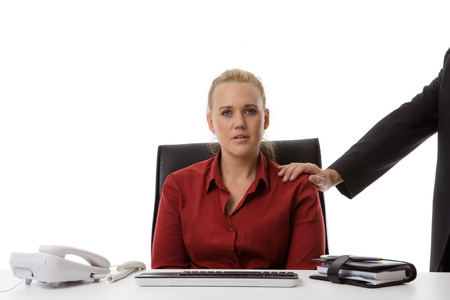 harassing: harassment in the work place of a young woman
