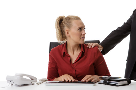 pervert: harassment in the work place of a young woman