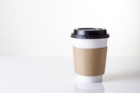 paper take away cup shot in the studio Stock Photo