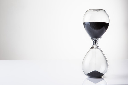 hour glass: large hour glass sand timer Stock Photo