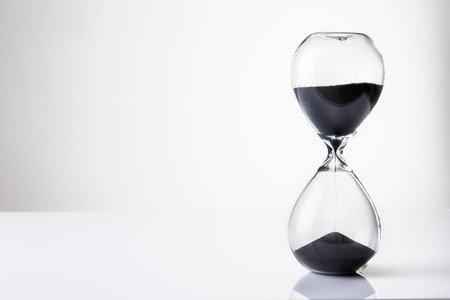 sand timer: large hour glass sand timer Stock Photo