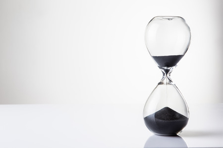 large hour glass sand timer Stock Photo