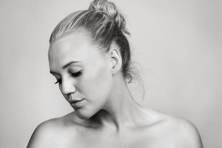 shot taken in the studio of a beautiful woman photo
