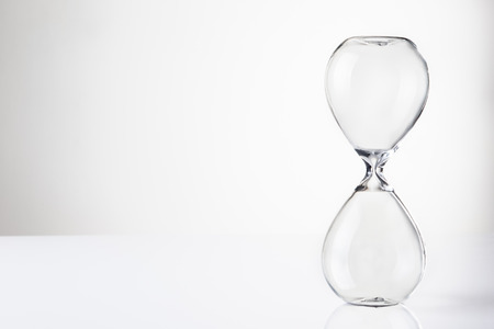 large hour glass sand timer with no sand in there