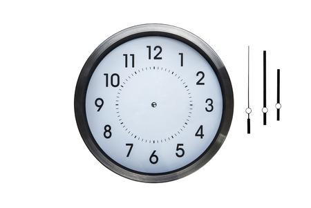 reloj: reloj de pared sin manos para que pueda compensar lo que cada vez el tiempo que desee en el reloj Foto de archivo