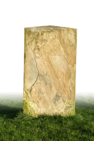 single grave stone cut out Stock Photo