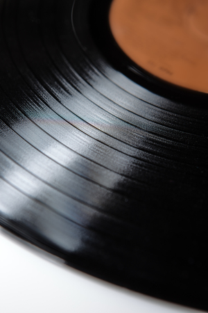 lp: close up of vinyl LP record showing groves Stock Photo