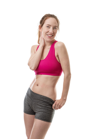 keep fit: woman wearing keep fit clothes ready for the gym