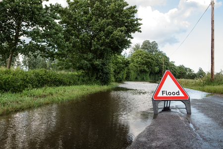 road closed: county road in essex of flooded road closed due to severe rain